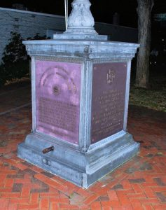 Flag Pole Plaque, WWI and Spanish-American War. Photograph courtesy of John R. Bolduc, Nashua NH native.