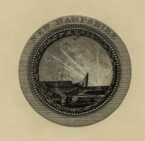 1850 Seal of New Hampshire