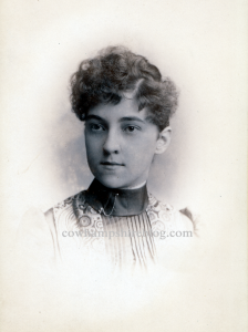 Photograph of an 1888 Class of Central High School graduate. Probable photo of Maud Ashley Briggs.