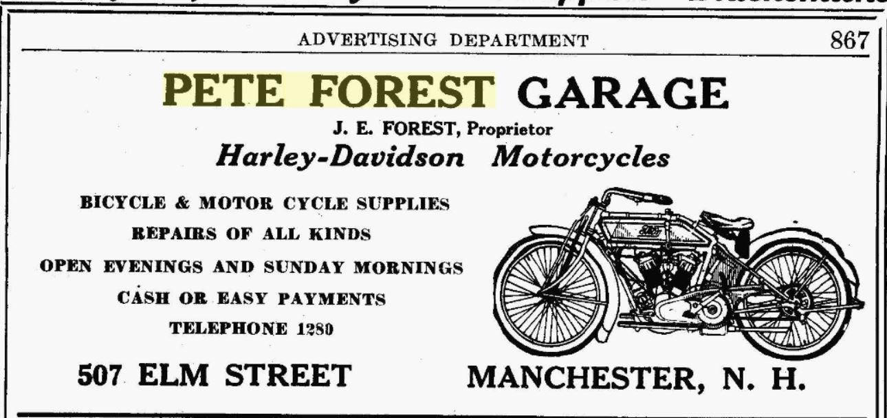 Manchester new hampshire shoemaker mechanic harley for Garage ad st gereon