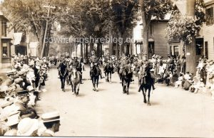 Postcard showing a parade held in Manchester New Hampshire in 1918.