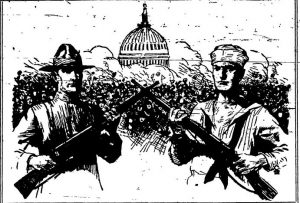 1923 Nashua Telegraph sketch accompanying the Roll of Honor for WWI.