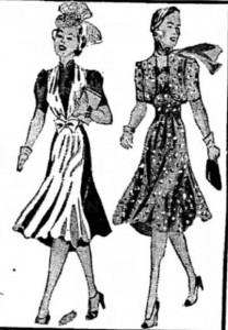 Sample of 1939 apparel from a Portsmouth NH newspaper