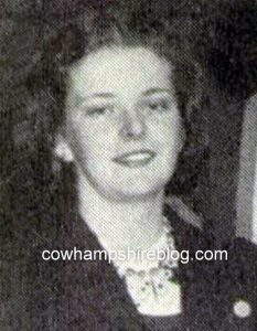 Photograph of Vesta Coward from her high school yearbook.