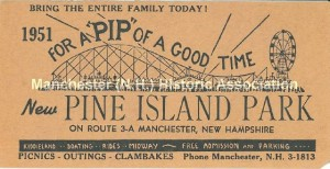 Pine Island Park Ticket, circa 1951, Manchester Historic Society Collection. Used with permission
