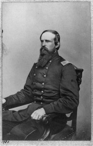 Edward E. Cross, three-quarters length portrait, seated in chair, facing left, in uniform. Col., 5th N.H. Infantry; Library of Congress Prints and Photographs Division Washington, D.C.
