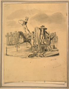 Circus scene, John Archibald Woodwide artist, published between 1820 and 1835, Library of Congress Prints and Photographs Division Washington DC