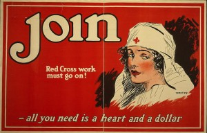 Lithograph Poster: Join--Red CRoss Work Must Go On! World War I Poster, Library of Congress Prints and Photographs Division, Washington DC