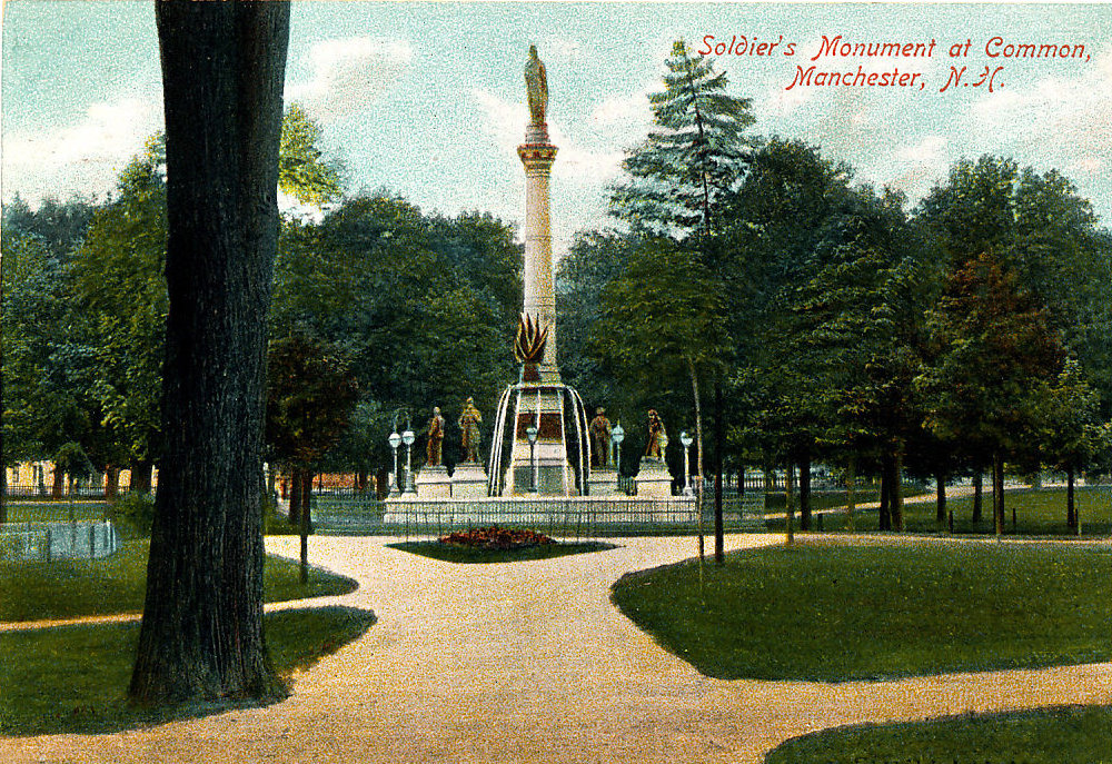 Manchester New Hampshire: Veterans Park and Monuments | Cow Hampshire