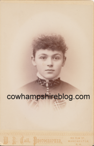 Clara Ellen Brown, Class of 1888 Manchester (NH) High School, from collection of J.W. Brown
