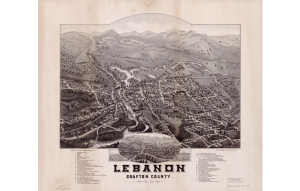 Map: Birds Eye View, Lebanon, Grafton Co., NH, 1884; Library of Congress Geography and Map Division, Washington, D.C.