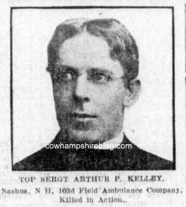 Photograph of Rev. Arthur P. Kelly from the Boston Globe, 21 July 1918