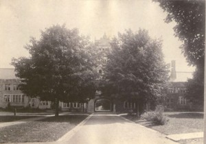 Bryn Mawr's Pembroke Arch taken in 1906, from the College Yearbook