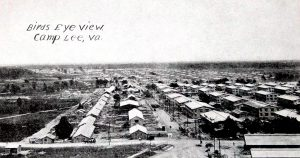 Old postcard of Camp Lee, Virginia, WWI era.