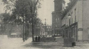 Biddeford, Maine's city square 1907