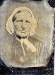 Tintype photograph of Dorcas (Wilson) Clement taken by 1865, the year that she died.