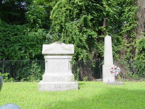 Stark Cemetery at Manchester NH's Stark Park.  Photograph by Janice W. Brown