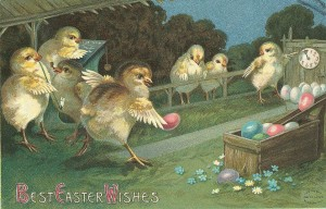 Easter victorian card