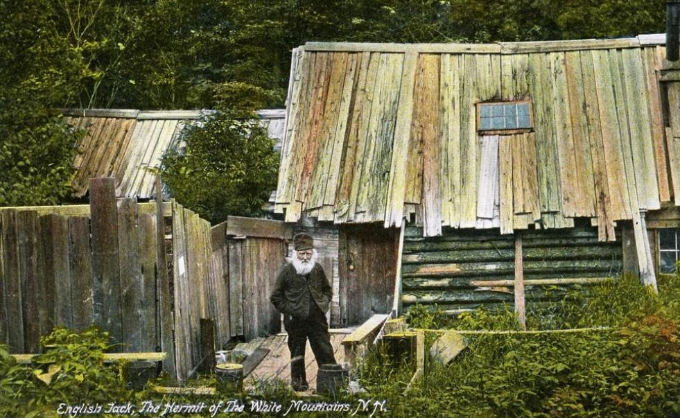 English Jack, Hermit of the White Mountains - old postcard