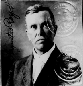1918 passport photograph of Rev. Ernest A. Royal