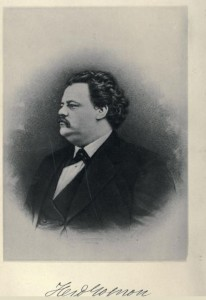 """Likeness of Ferdinand Gagnon from """"Biography of Ferdinand Gagnon,"""" by Benjamin Sulte; 1886"""