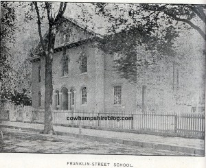 "Photograph of the South Grammar School aka Franklin Street School, from ""The Mirrors Pictorial Manchesters 1846-1896"""
