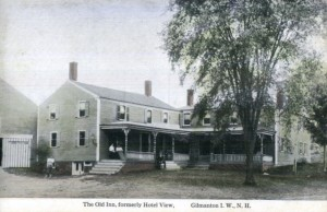 Old postcard of Gilmanton Iron Works inn.