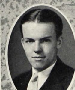 Hollis Walter Baldwin from the UNH Yearbook
