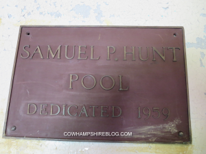 Plaque on inside wall of Hunt Memorial Pool, Manchester NH