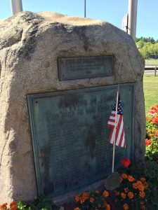 WWI Memorial plaque at Memorial Park, Concord, NH. Copyright Elizabeth Mace, used with her permission.