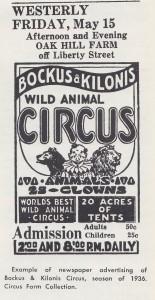 Kilonis circus advertising page 2