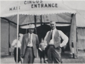 Curtis L. Backus (with hat) and John D. Kilonis on the right.