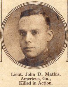 MATHIS John D Americus GA