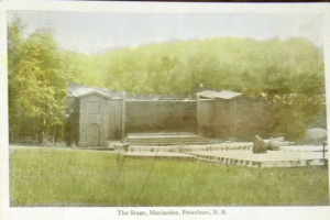 Old postcard of the Mariarden stage where Bette Davis performed.