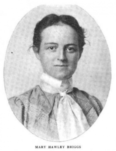 Mrs. Mary Hawley Briggs. Photograph from
