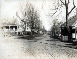 Old photograph of Main Street, Milton, New Hampshire