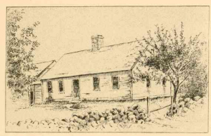 Sketch of Mrs. Garfield's early home from History of the Town of Richmond, Cheshire County, New Hampshire, From Its First Settlement, to 1882, page 355