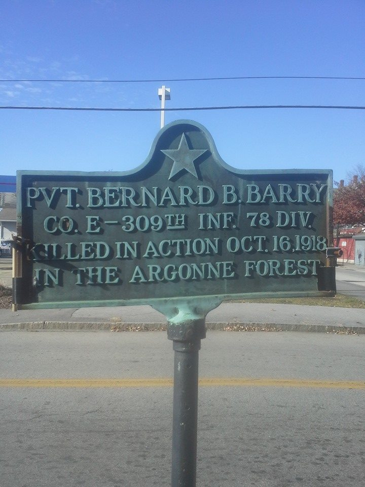 pvt bernard barry plaque Manchester NH
