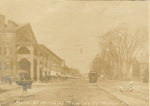 Old postcard of Main Street, Nashua NH