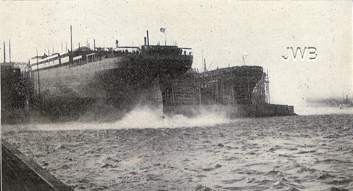 RMS Baltic launching 1903