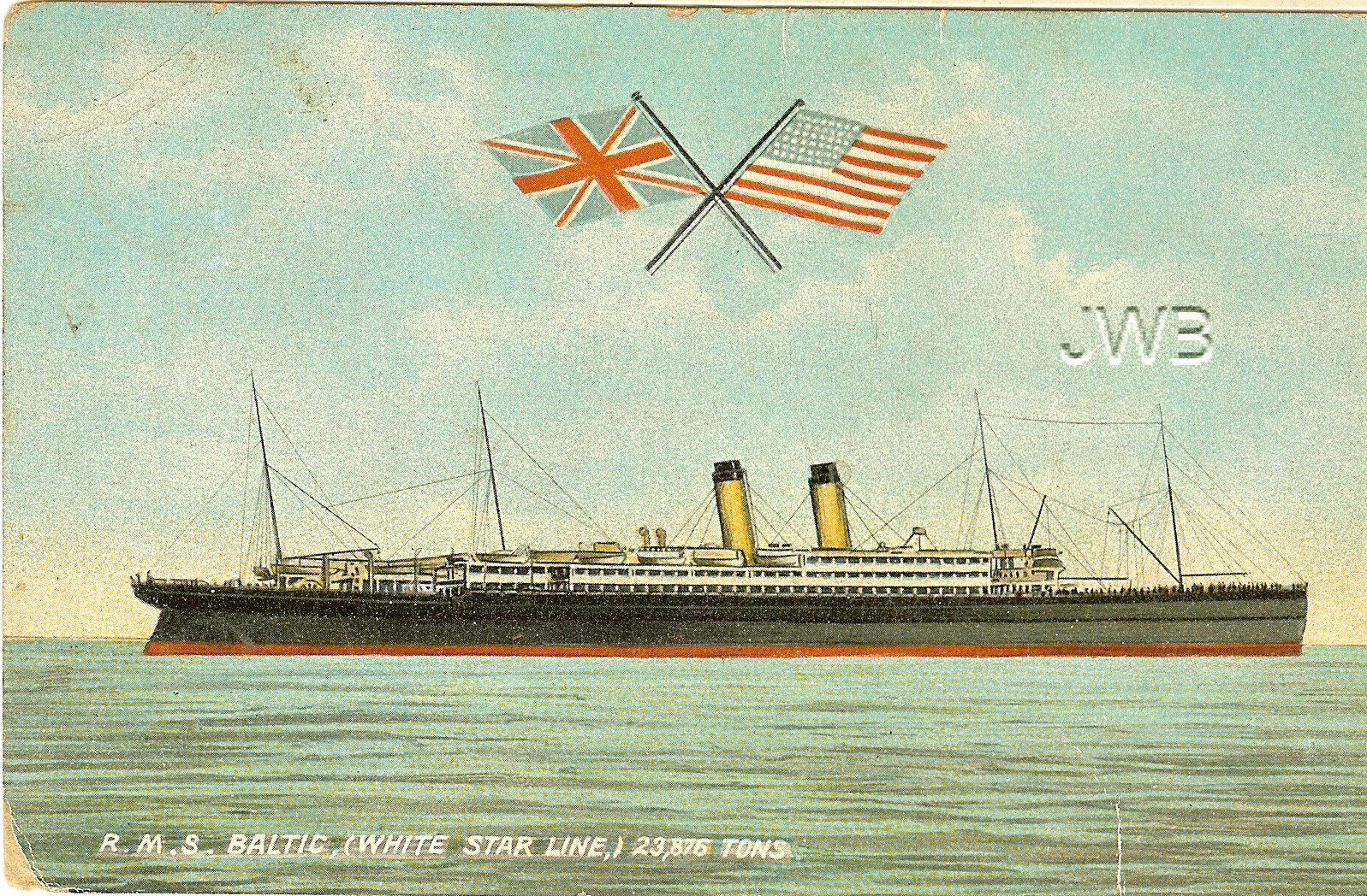 RMS Baltic postcard 2