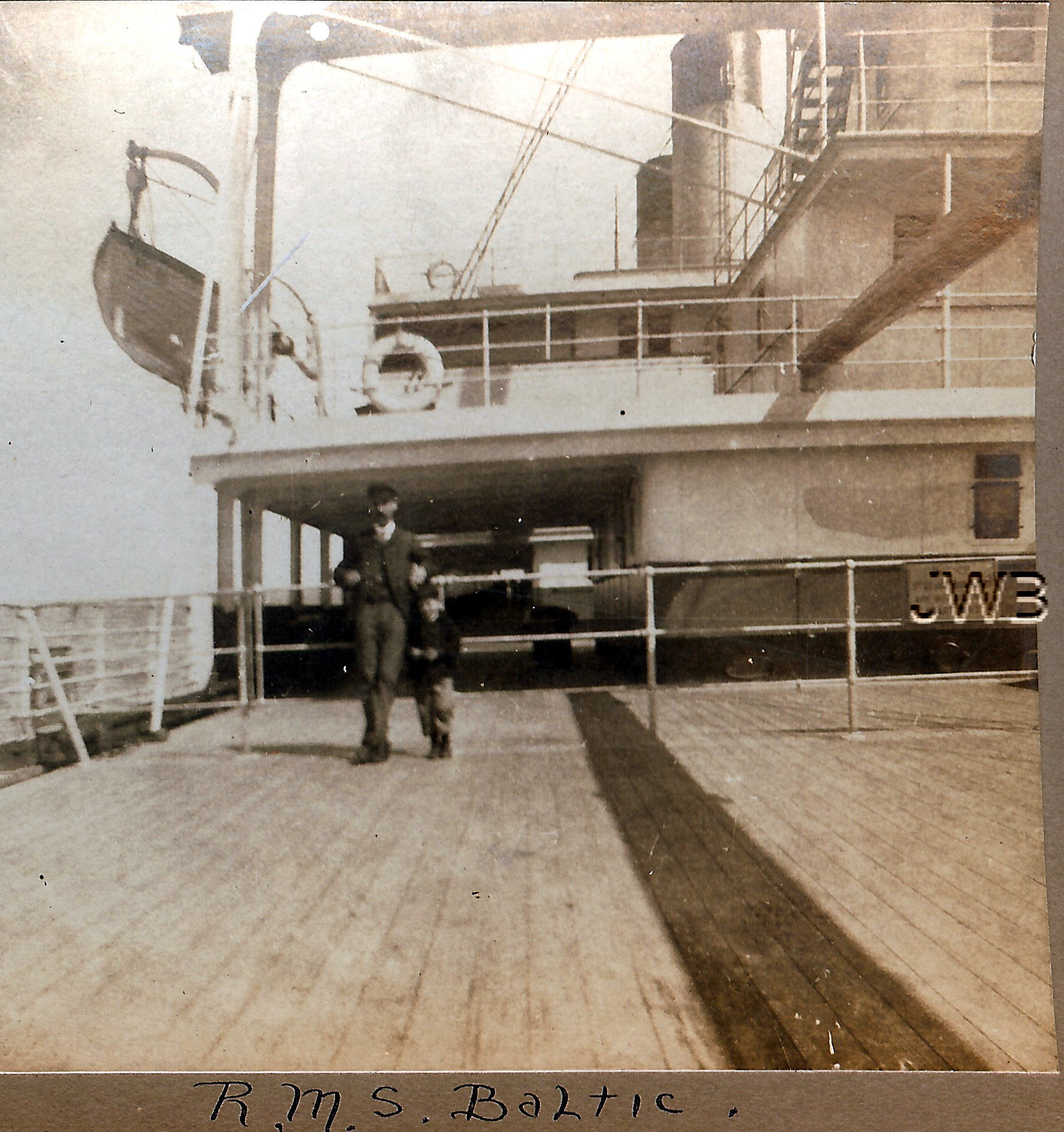 RMS Baltic on deck 1904