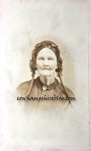 """Rhoda """"Rhody"""" (Hartwell) Wyman (1790-1880) wife of Reuben."""