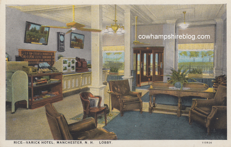 Barber Shop Manchester Nh : ... circa 1927, formerly the new Manchester House hotel, Manchester NH