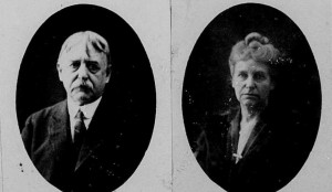 Photograph of Robert & Lucetta (Abbott) Coit from their passport.