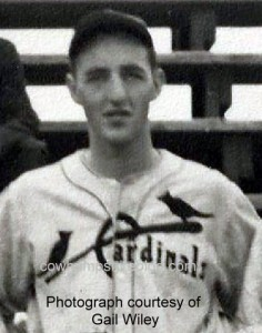 "Photograph of Roger Raymond circa 1938 when he played with the Manchester Cardinals baseball team. Courtesy of Gail Wiley whose father, Robert ""Curly"" Clement was a team member, and her grandfather, Fred Clement, was the manager."