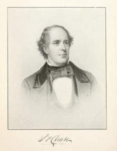 S.P. Chase as a young man, from History of New Hampshire by Everett S. Stackpole, p183