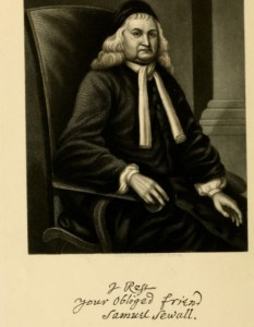 "Likeness of Judge Samuel Sewell from ""An Adress on the Life and Character of Chief-Justice Samuel Sewall, delivered in the Old South Church, Boston, Sunday, October 26, 1884, by George E. Ellis."