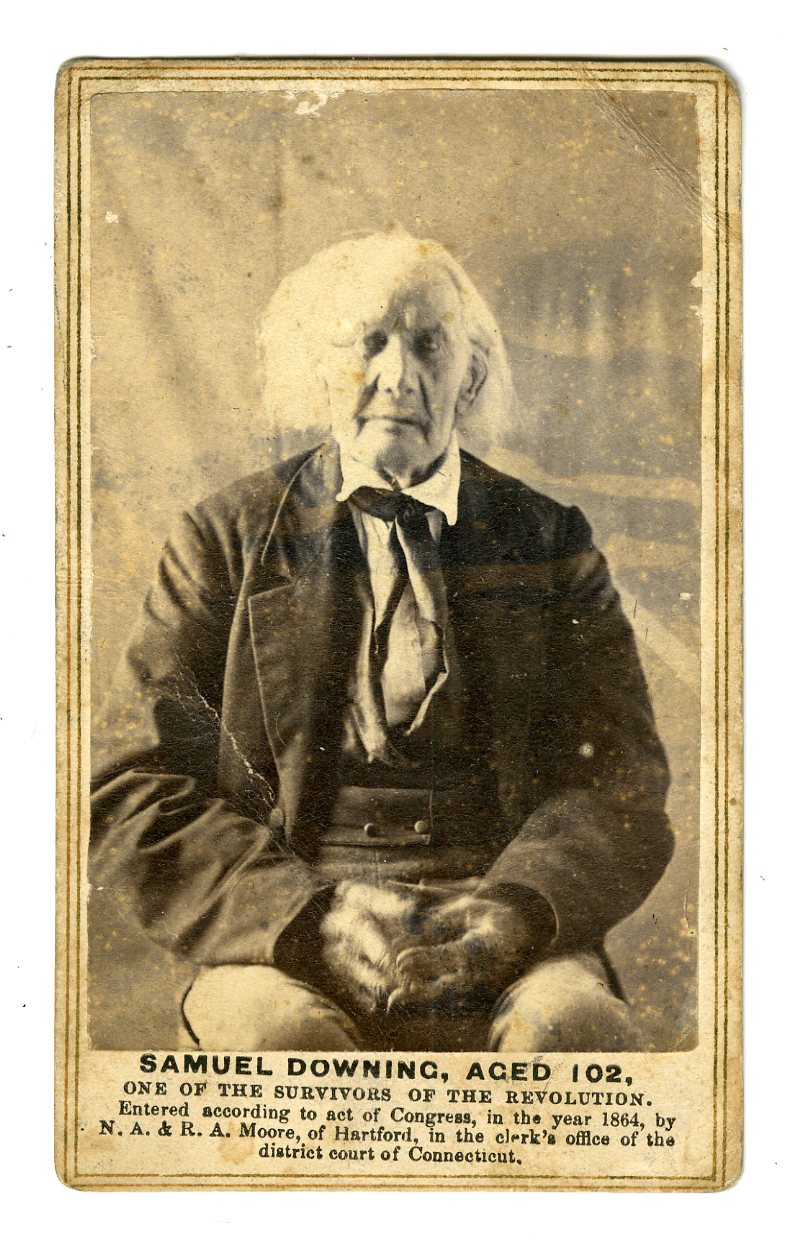 One of the few existing photographs of Veterans of the American Revolutionary War, taken in 1864 by Nelson Augustus Moore for E. B. Hillards publication The Last Men of the Revolution.