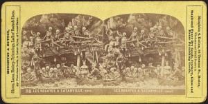 Les Regates A Satanville, Stereograph, 1850-1920, Boston Public Library, Print Department
